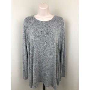 Anthropologie Postmark Basic Gray Tee